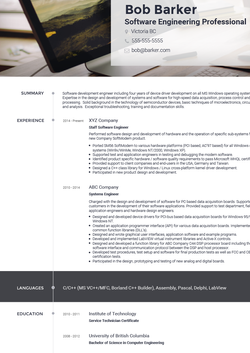 Marketing CV Template and Example by VisualCV