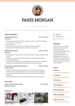 Stylish CV Template and Example - Chloe by VisualCV
