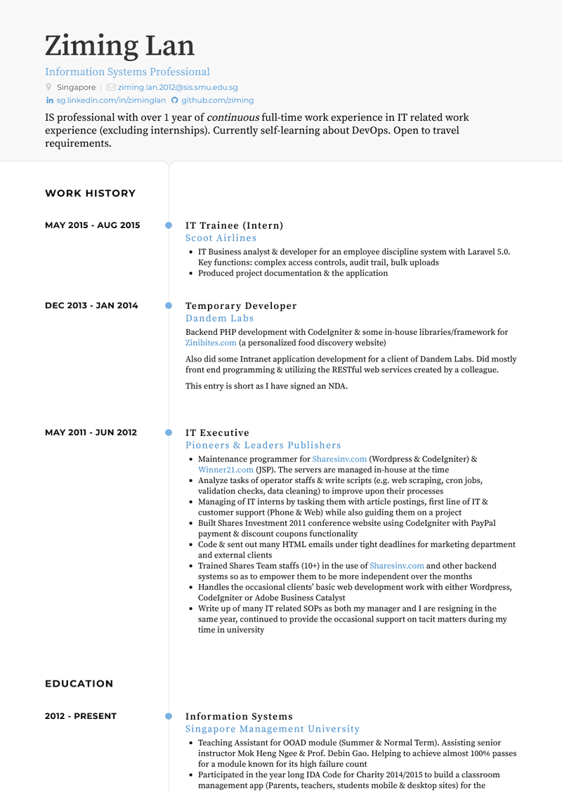 Trainee Resume Samples And Templates Visualcv