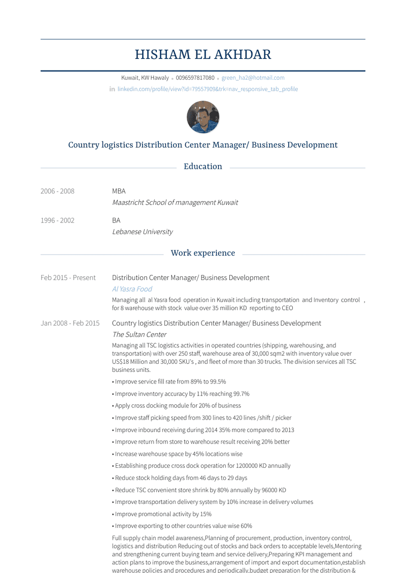 Category Manager Resume Sample and Template