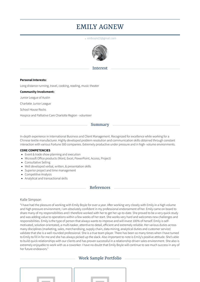 Assistant Account Executive Resume Sample and Template