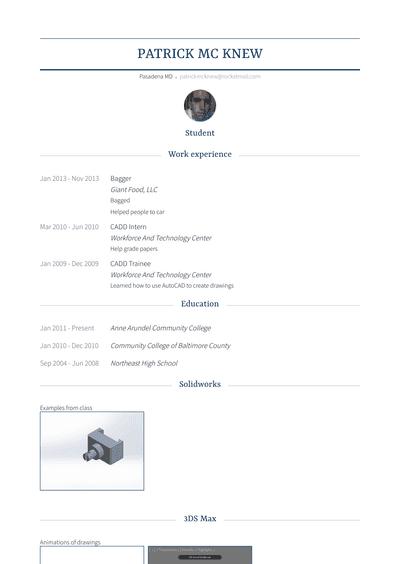 bagger resume samples and templates  visualcv