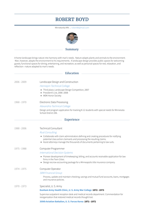 Technical Consultant Resume Sample and Template
