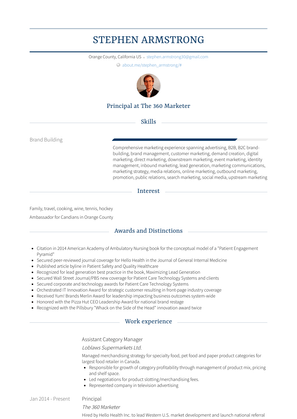 Assistant Category Manager Resume Sample and Template