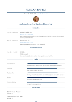 Child Care Resume Sample and Template