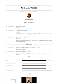 Lead Sales Associate Resume Sample and Template