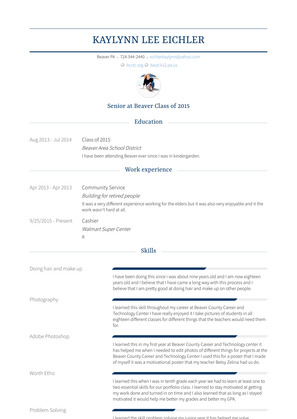 Community Service Resume Sample and Template