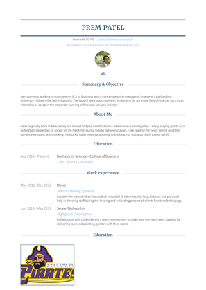 Mover Resume Sample and Template