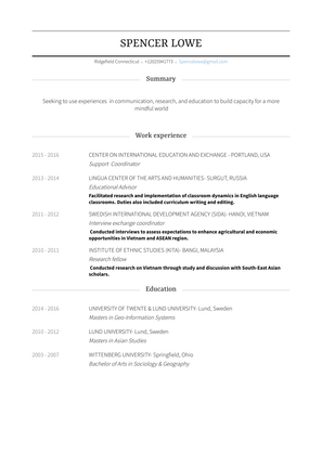 Research Consultant Resume Sample and Template