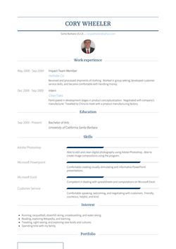 Impact Team Member Resume Sample and Template