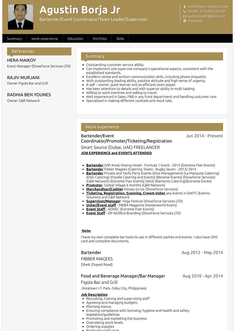 Event Coordinator Resume Samples And Templates Visualcv