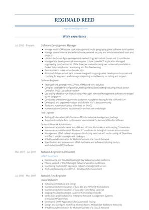 Software Development Manager Resume Sample and Template