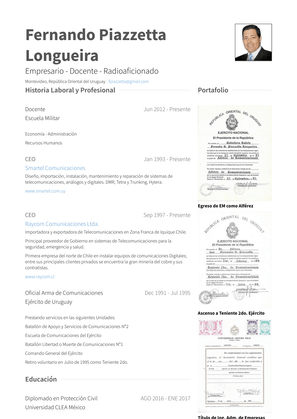 Docente Resume Sample and Template