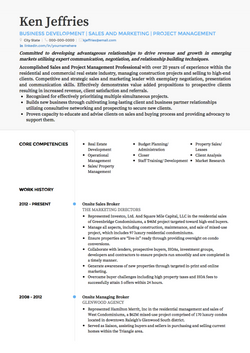 Project Manager CV Example and Template
