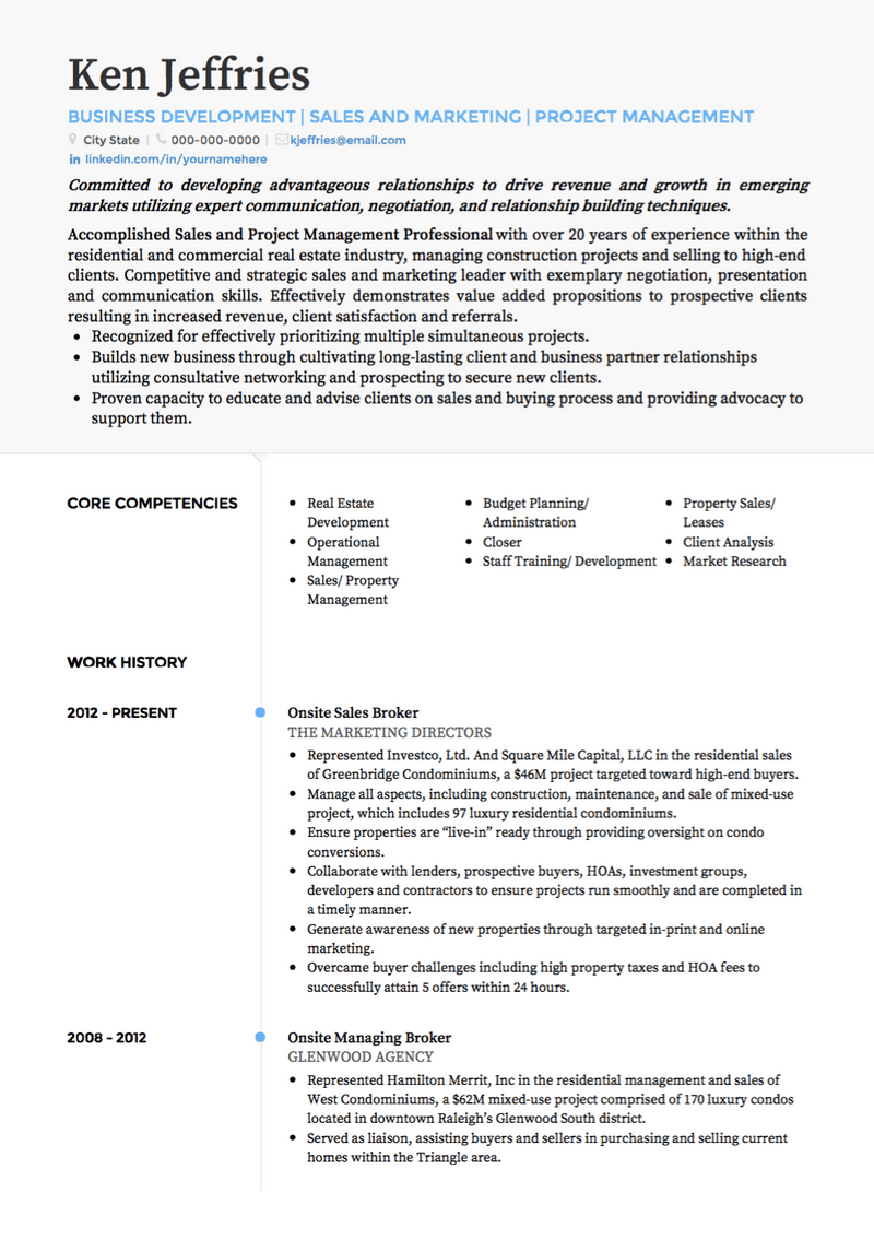 project manager cv examples  u0026 templates