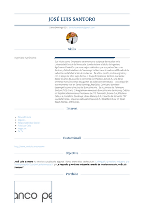 Presidente Resume Sample and Template