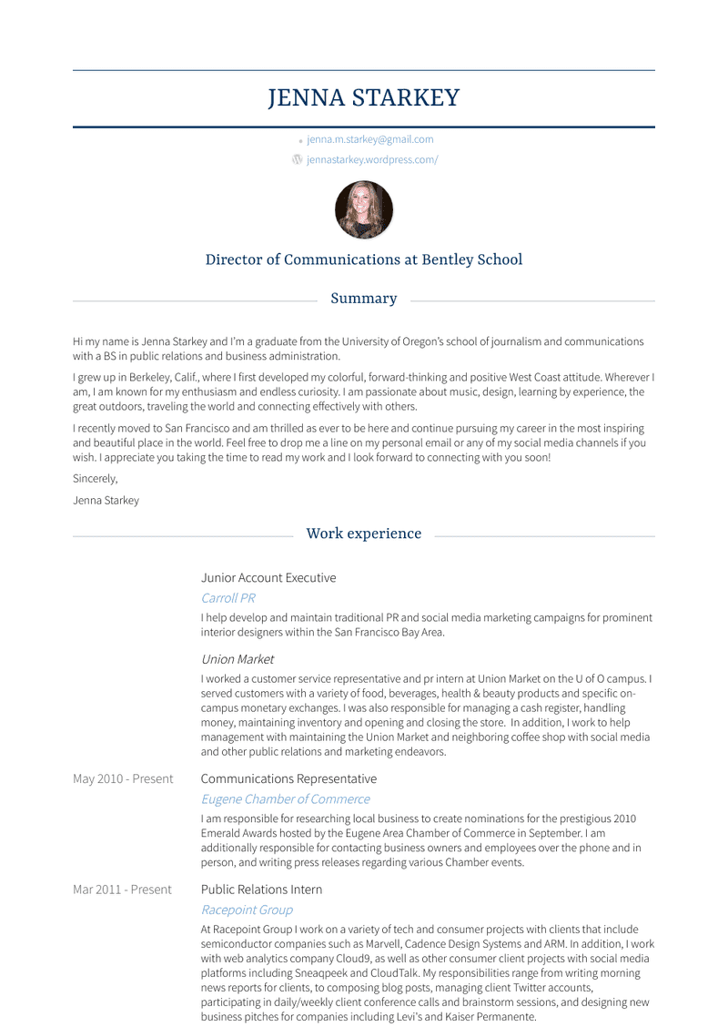 Junior Account Executive - Resume Samples and Templates ...